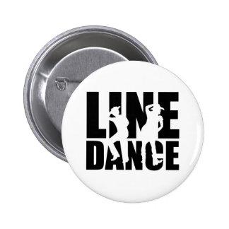 Line dance 6 cm round badge