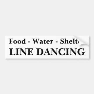 Line Dance Bumper Sticker