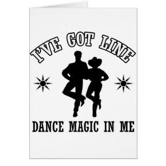 Line Dance Designs Card