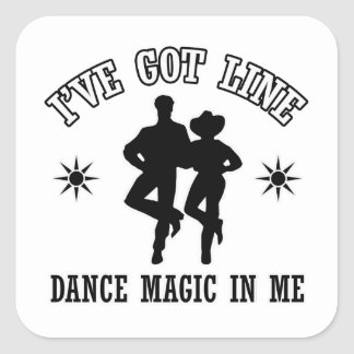 Line Dance Designs Square Sticker