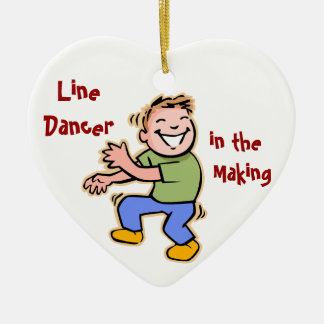 Line Dancer in the Making! (Boy) Ceramic Heart Decoration