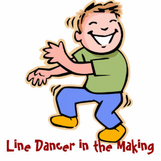 Line Dancer in the Making Boy Acrylic Cut Outs