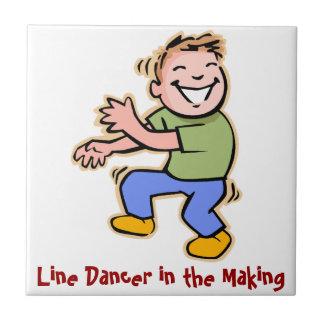Line Dancer in the Making Boy Tiles