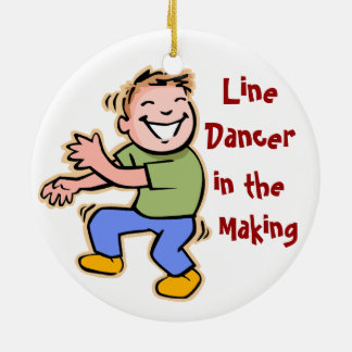 Line Dancer in the Making Boyl Ornaments