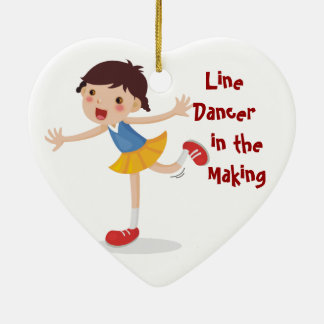 Line Dancer in the Making! - Girl Christmas Tree Ornaments