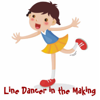 Line Dancer in the Making - Girl Photo Cut Out