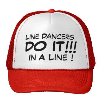 Line Dancers Do It In A Line Mesh Hats