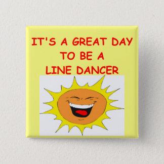 LINE dancing 15 Cm Square Badge