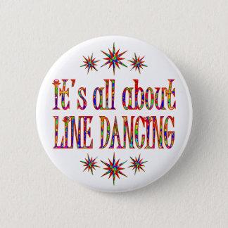 LINE DANCING 6 CM ROUND BADGE