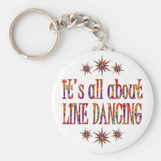 LINE DANCING BASIC ROUND BUTTON KEY RING