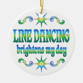 Line Dancing Brightens Christmas Ornament