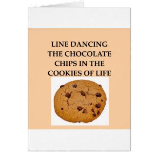 line dancing cards
