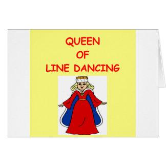 line dancing card