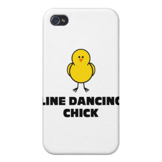 Line Dancing Chick iPhone 4 Cases