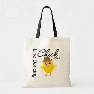 Line Dancing Chick Budget Tote Bag