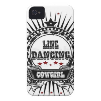 Line dancing cowgirl with red stars iPhone 4 cover