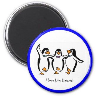 Line Dancing: Dancing penguins Magnet