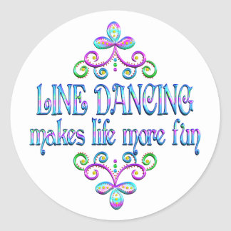 Line Dancing Fun Classic Round Sticker