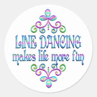 Line Dancing Fun Round Sticker