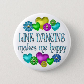 Line Dancing Happinness 6 Cm Round Badge