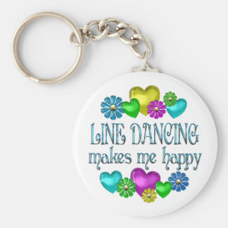 Line Dancing Happinness Key Ring