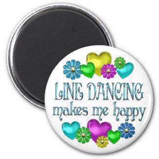 Line Dancing Happinness Refrigerator Magnet