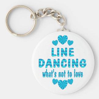LINE DANCING LOVE KEY RING