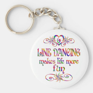 Line Dancing More Fun Key Ring