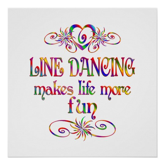 Line Dancing More Fun Poster