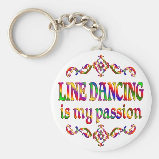 Line Dancing Passion Basic Round Button Key Ring