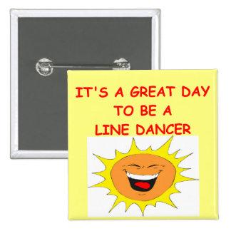 LINE dancing Pinback Buttons