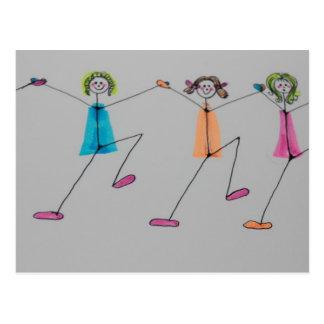 line dancing postcard