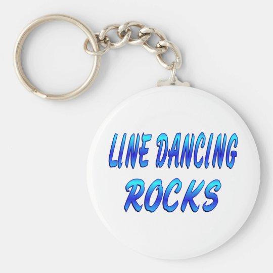 LINE DANCING ROCKS BASIC ROUND BUTTON KEY RING