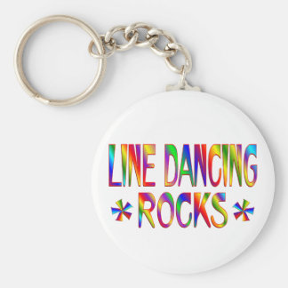 Line Dancing Rocks Basic Round Button Key Ring