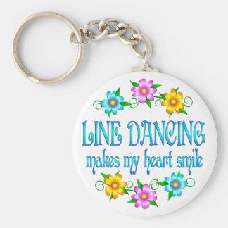 Line Dancing Smiles Key Ring
