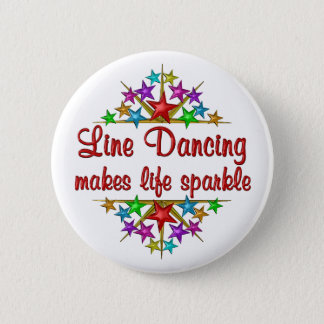 Line Dancing Sparkles 6 Cm Round Badge