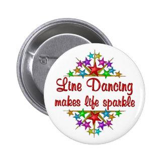 Line Dancing Sparkles 6 Cm Round Badge