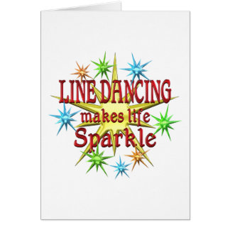 Line Dancing Sparkles Card