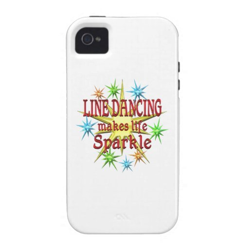 Line Dancing Sparkles iPhone 4/4S Cases