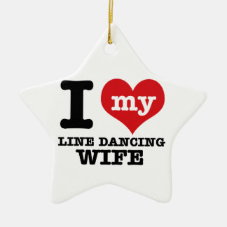 Line dancing Wife Ceramic Star Decoration