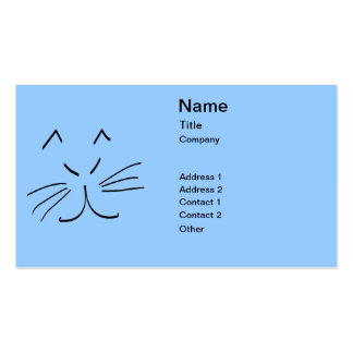 Line Drawing of a Cat Business Card Templates