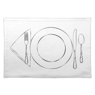 Line Drawing Place Setting Placemat