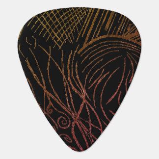Line Frenzy Guitar Pick (Yellow & Orange Edition)