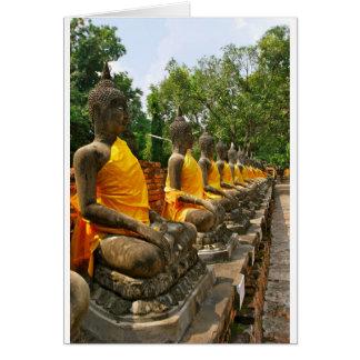 Line of Buddhas Card