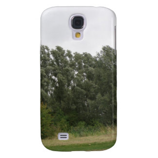 Line of Leaning Trees Landscape  Galaxy S4 Case