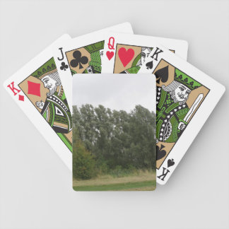 Line of leaning Trees Landscape Playing Cards
