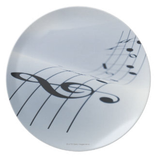Line of Music Plate