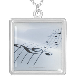 Line of Music Silver Plated Necklace