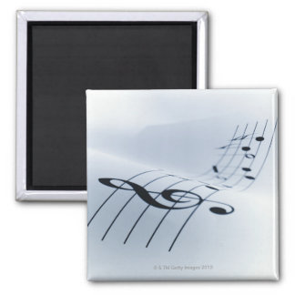 Line of Music Square Magnet