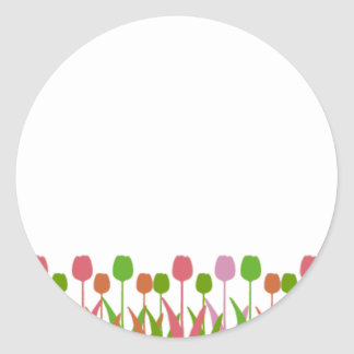 Line of Tulips Stickers